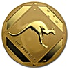 Australian Gold Kangaroo Road Sign 1993 - Frosted - 1 oz