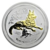 Australian Silver Lunar Series 2018 - Year of the Dog - Gilded Proof - With Box and COA - 1 oz