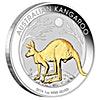 Australian Silver Kangaroo 2019 - Gilded -  1 oz