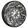 Tuvalu Silver Dragon and Phoenix 2019 - With box & COA - Antiqued Finish - 2 oz