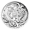 Australian Silver Dragon and Tiger 2019 - Proof - 1 oz