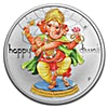 Happy Diwali Silver Coin - 1 oz Proof - With Box and COA
