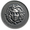 Cameroon Silver Medusa 2019 - Antique Finish  - 3 oz