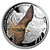 Mongolia Silver Saker Falcon 2015 - 1/2 oz