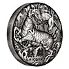 Tuvalu Silver Qilin 2018 - With box & COA - Antiqued Finish - 2 oz