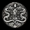 Tuvalu Silver Double Dragon 2019 - With box & COA - Antiqued Finish - 2 oz
