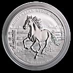 Australian Silver Stock Horse 2014 - 1 oz thumbnail