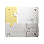 Degussa Fine Metal Puzzle - 4 piece set  thumbnail