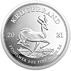 South African Silver Krugerrand 2021 - Proof - 2 oz  thumbnail