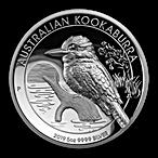 Australian Silver Kookaburra 2019 - Proof High Relief - 5 oz  thumbnail