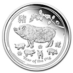 Australian Silver Lunar Series 2019 - Year of the Pig - Proof - With Box and COA - 1 oz thumbnail