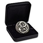 Tuvalu Silver Dragon 2018 - With box & COA - Antiqued High Relief - 5 oz thumbnail