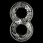Tuvalu Silver Figure 8 Koi Fish 2019 - With box & COA - Antiqued Finish - 2 oz thumbnail