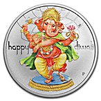 Happy Diwali Silver Coin - 1 oz 2018 - Proof - With Box and COA thumbnail