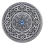 Fiji Silver Mandala Art Moresque 2018 - Antique Finish  - 3 oz thumbnail