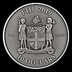 Fiji Silver Mandala Art Gothic 2019 - Antique Finish  - 3 oz thumbnail