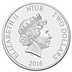 Niue Silver Star Wars 2016 - Finn - 1 oz  thumbnail