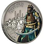 Niue 2017 Silver Warriors of History - Ayyubids - Antique Finish - 1 oz thumbnail