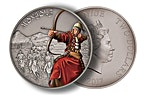 Niue 2017 Silver Warriors of History - Mongols - Antique Finish - 1 oz thumbnail