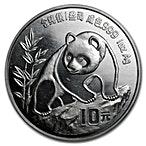Chinese Silver Panda 1990 - 1 oz thumbnail