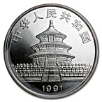 Chinese Silver Panda 1991 - 1 oz thumbnail