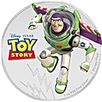 Niue Silver Disney Pixar Toy Story 2018 - Buzz Lightyear - 1 oz thumbnail