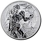 Tuvalu Silver Gods Of Olympus 2021 - Zeus - 5 oz thumbnail