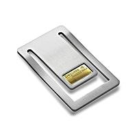 Stainless Steel Money Clip with 1 g Degussa Gold Bar
