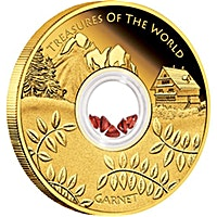 Australian Gold Treasures of the world 2013 - Garnet - 1 oz
