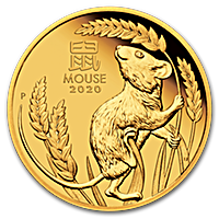 Australian Gold Lunar Series 2020 - Year of the Mouse - Proof - 1/4 oz