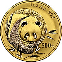 Chinese Gold Panda 2003 - Graded MS 68 by PCGS - 1 oz