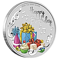 Australia Silver Happy Birthday 2020 - Proof - 1 oz