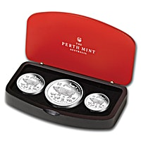 Australia Silver Lunar Series 2019 - Year of the Pig - 3 coin set
