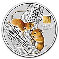 Australian Silver Lunar Series 2020 - Year of the Mouse - Gold Privy Insert - 1 kg
