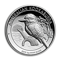 Australian Silver Kookaburra 2019 - Proof High Relief -  1 oz