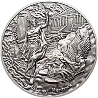 Cook Islands Silver Mythology Series - Winged Sandals of Hermes, Talaria - 2 oz