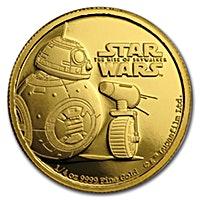 Niue Island Gold Star Wars: The Rise Of Skywalker - BB8 & D-O 2019 - 1/4 oz