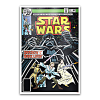 Niue Silver Star Wars comic book poster 2019 - 35 g