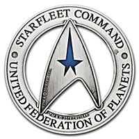 Tuvalu Silver Starfleet Command Holey Dollar & Delta 2019 - 3 oz