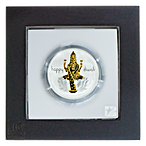Happy Diwali Silver Medallion - 1 oz - Proof With Box thumbnail