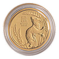 Australian Gold Lunar Series 2020 - Year of the Mouse - Proof - 1/10 oz