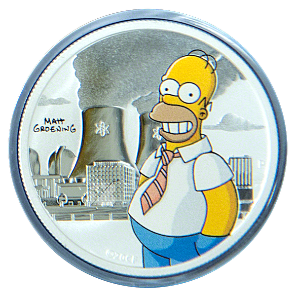 Tuvalu Silver The Simpsons: Homer 2020 - Colourized - 1/2 oz
