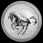 Australian Silver Stock Horse 2017 - Circulated in good condition -  1 oz thumbnail