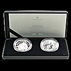 United Kingdom Silver Britannia Core Range - 2 coin set - Proof and Reverse Proof - 2 oz thumbnail