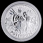 Tuvalu Silver Gods Of Olympus 2021 - Poseidon - 5 oz thumbnail