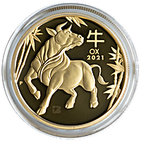 Australian Gold Lunar Series 2021 - Year of the Ox - Proof - 1 oz