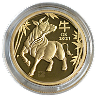 Australian Gold Lunar Series 2021 - Year of the Ox - Proof - 1/4 oz