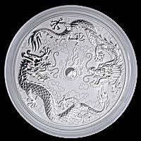 Australian Silver Double Dragon 2021 - 10 oz