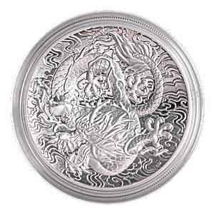 Australian Silver Chinese Myths and Legends 2021 - Dragon - Proof High Relief - 2 oz