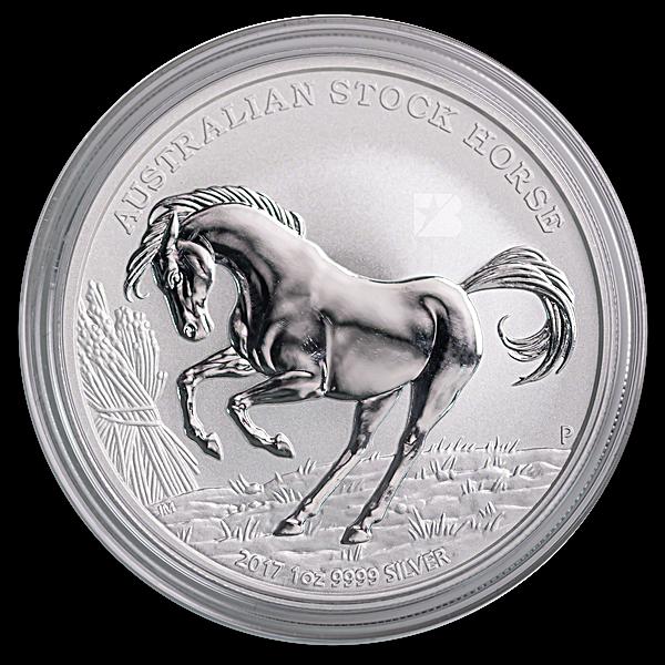 Australian Silver Stock Horse 2017 - Circulated in good condition -  1 oz
